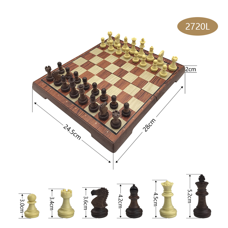 High-grade Chess Plastic Folded Board International Magnetic Chess Set Exquisite Chess Puzzle Games Board Game Gift Yernea 3