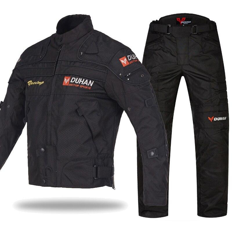 DUHAN 4 ESTAÇÕES dos homens do motociclista jaquetas à prova de vento jaquetas forro jaqueta roupa da motocicleta Equipamentos de Proteção de proteção de transporte da gota
