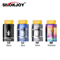 Original SMOKJOY Kaiser RTA Atomizer 3ml Tank Capacity W Dual Coils Build Deck Colorful Glass Tube