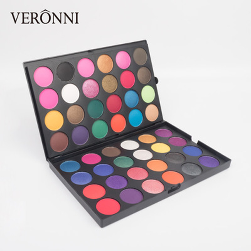 48 Color Glitter powder Eyeshadow Palette VERONNI 2019 New Matte EyeShadow Make Up Palette Professional Eye shadow Pigments in Eye Shadow from Beauty Health