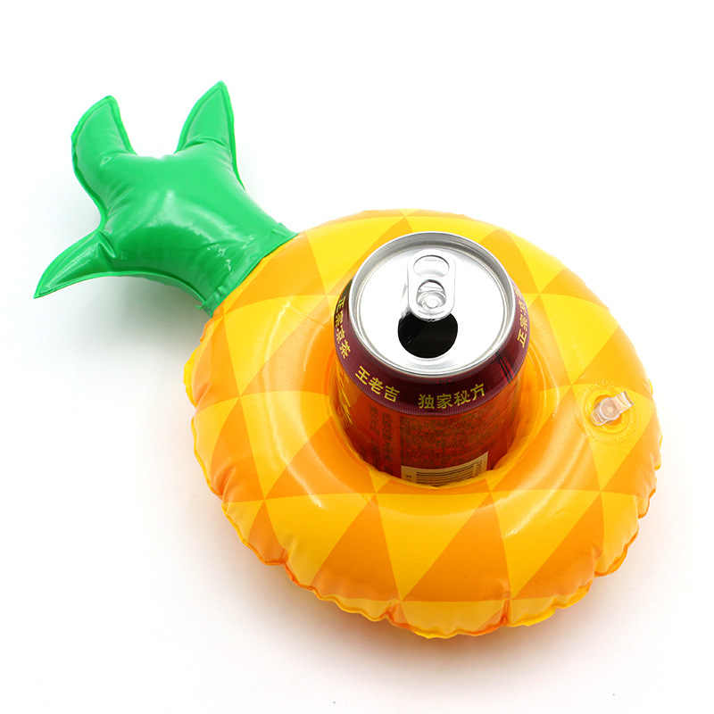 Мини-надувной держатель для банки Фламинго держатель электродов бассейн поплавок бассейн из ПВХ Купание Детские вечерние игрушки для купания