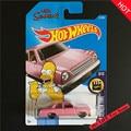 Новые Поступления 2017 Hot Wheels Simpsons Family Розовые Модели Металл Литья Под Давлением Автомобиль Коллекция Дети Toys Автомобиля Для Детей Juguetes