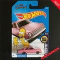 Novedades 2017 hot wheels simpsons familia rosa modelos de coches diecast de metal colección kids toys vehículo para niños juguetes