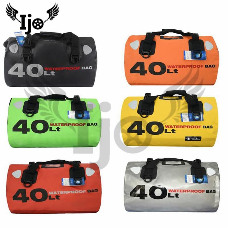 Tamanho grande parte moto rbike à prova d' água saco de viagem saco da bagagem grande capacidade rider moto saco do banco traseiro cinta ferramenta moto saco de cauda rcycle