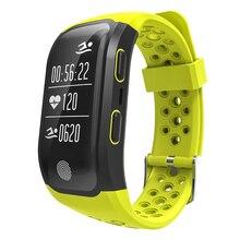 S908 GPS сердечного ритма сообщение напоминание шагомер IP68 Водонепроницаемый touch ключ OLED Умные браслеты для Android и IOS
