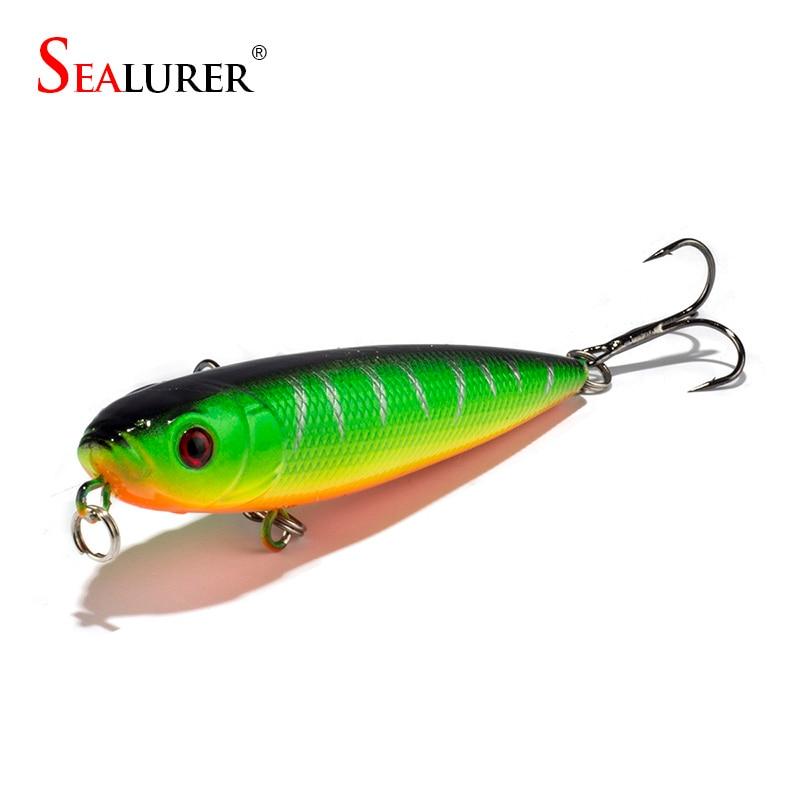 Sealurer 8cm/9g Pencil Fishing Lures 6# Hooks Floating Plastic Pesca Hard Bait Crankbait Fishing Tackle 1pcs/lot