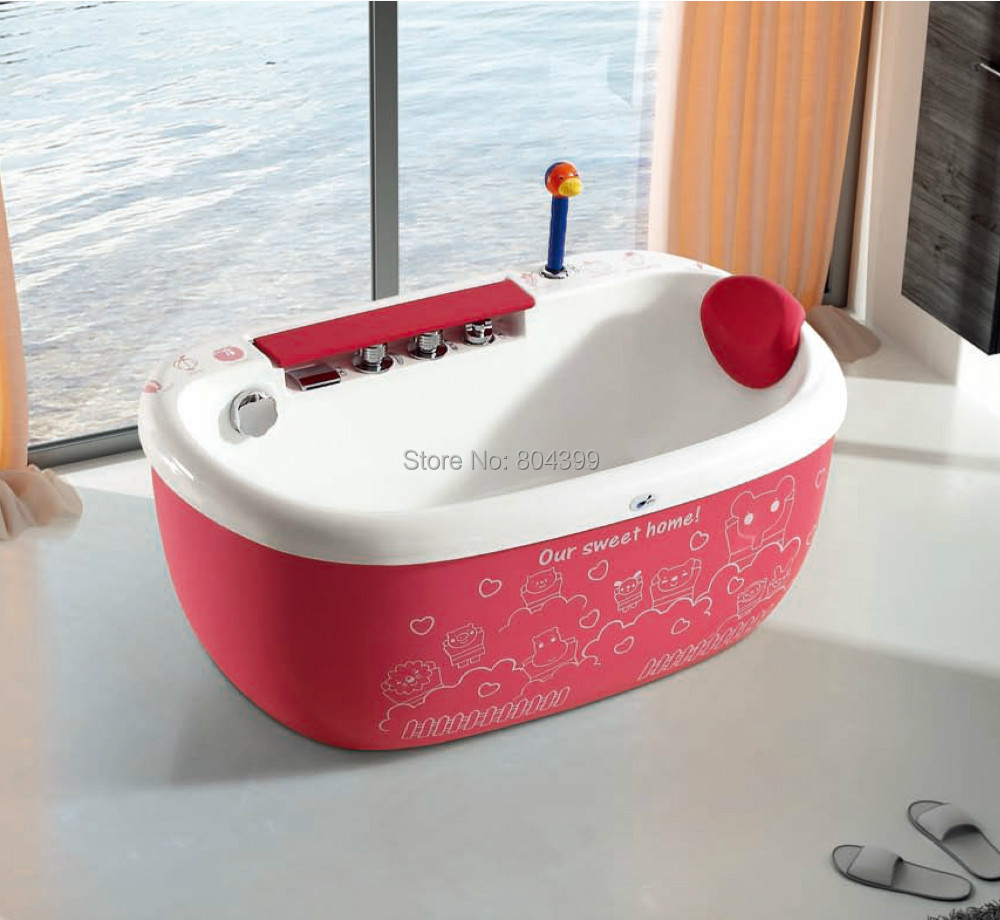 MY 1692 red skirt baby bathtub Lovely colorful air bubble kids ...