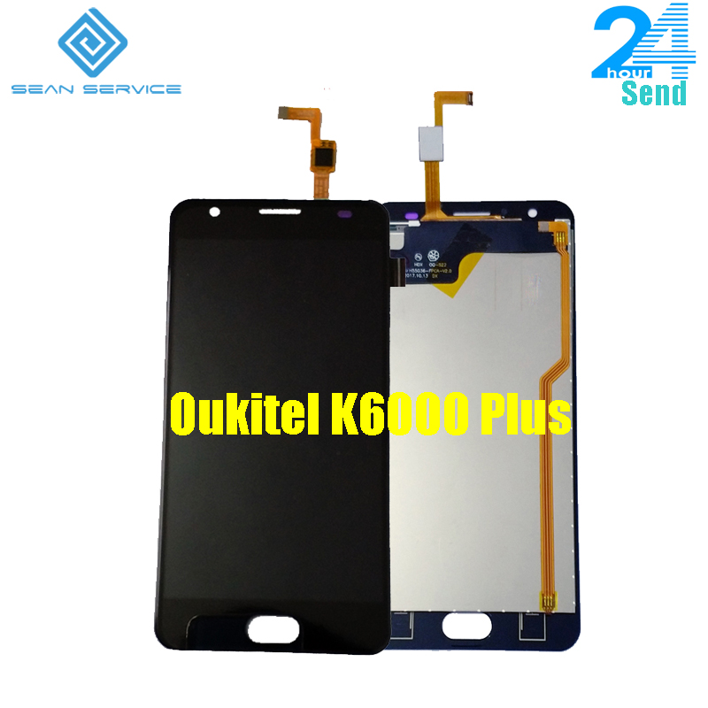For Oukitel K6000 Plus LCD Display+Touch Screen 100% Original New 5.5 K6000 Plus Tested Digitizer Glass Panel Replacement+Tools