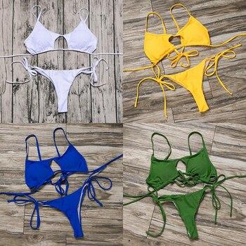 ZTVitality Sexy White Push Up Bikini 2020 Hot Sale Padded String Thong Bikinis Low Waist Swimsuit Female Biquini Swimwear Women 1