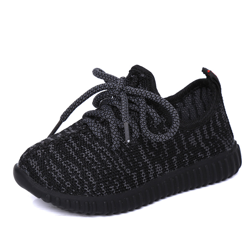 Toddler Boy Summer Children Pige Sko Outdoor Running Sneakers Breathable Mesh Sports Sko til Girls Boys Black School Shoes