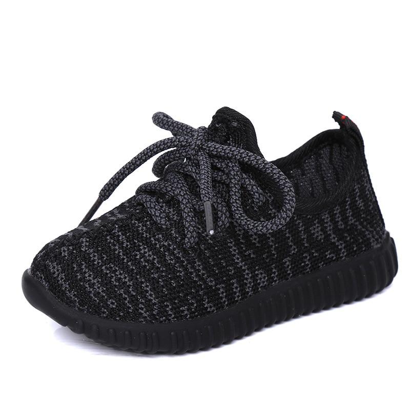 Balita Boy Musim Panas Anak-anak Gadis Sepatu Luar Sepatu Lari Bernapas Mesh Sepatu Olahraga untuk Anak Perempuan Anak Laki-laki Hitam Sepatu