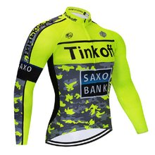 Tinkoff Cycling Jersey 2018 Winter Thermal Fleece Bicycle Clothing Ropa  Ciclismo Hombre Invierno MTB Bike Jersey fabf91898