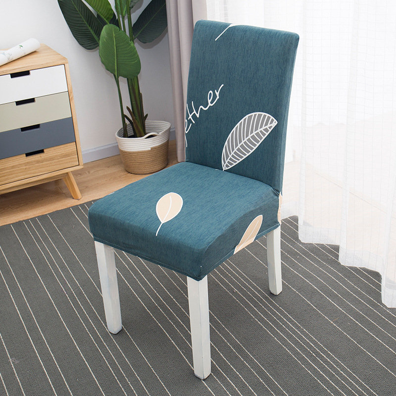 Removable Folding Elastic Dining Room Chair Cover Universal Printing Spandex Seat Chair Covers for Wedding ,Modern Kitchen Decor