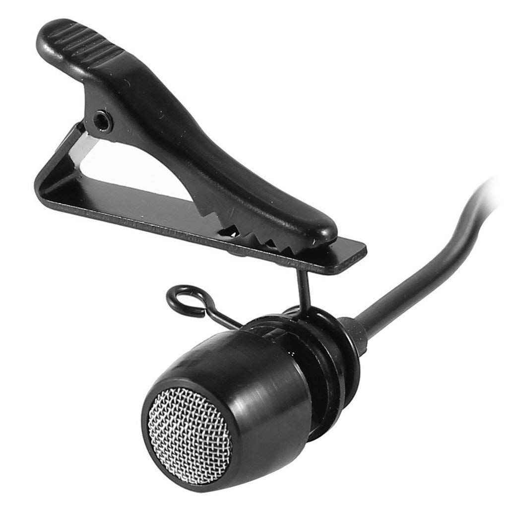 5 Pcs Anello Mini 7.5 millimetri Microfono Supporto Della Clip Cravatta Clip di Clip Collare Pratico (Nero)