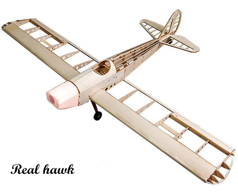 RC avion coupe Laser Balsa bois avion Spacewalker cadre sans couverture envergure 1230mm Balsa bois modèle Kit de construction
