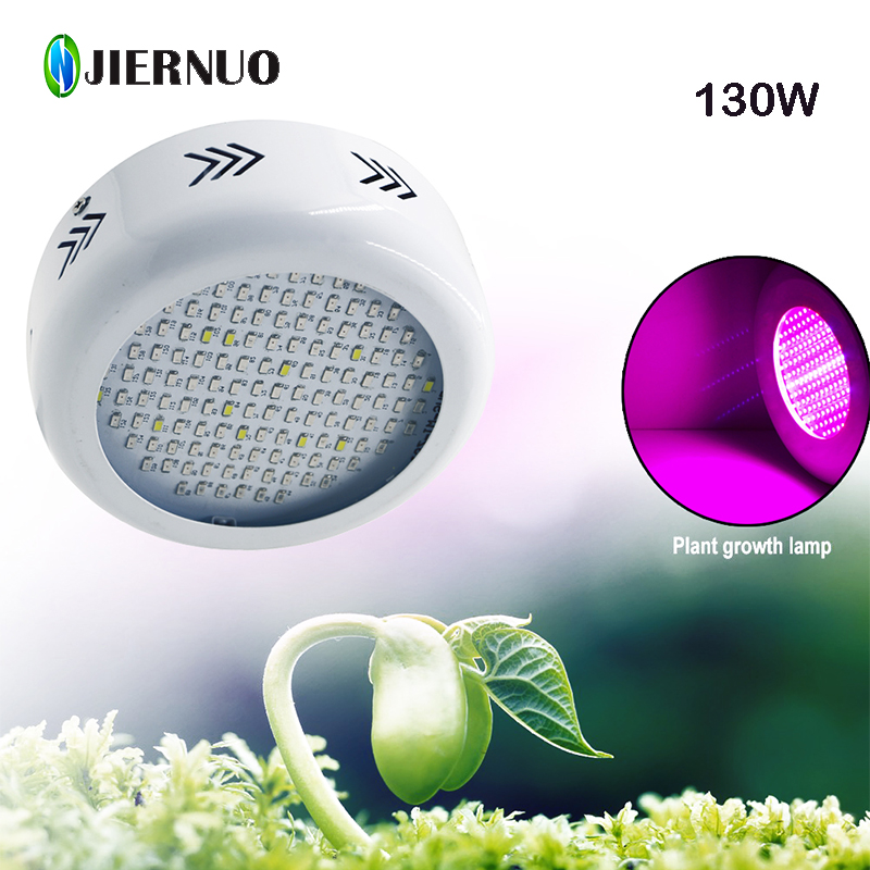 130W UFO LED Grow Light Full Spectrum SMD5730*132leds Red UV Blue IR White For Hydroponics growing Flower Phrase grow tent 10pcs lot full spectrum led grow light 216w ufo grow box red blue white warm uv ir for indoor hydroponics plant and flower