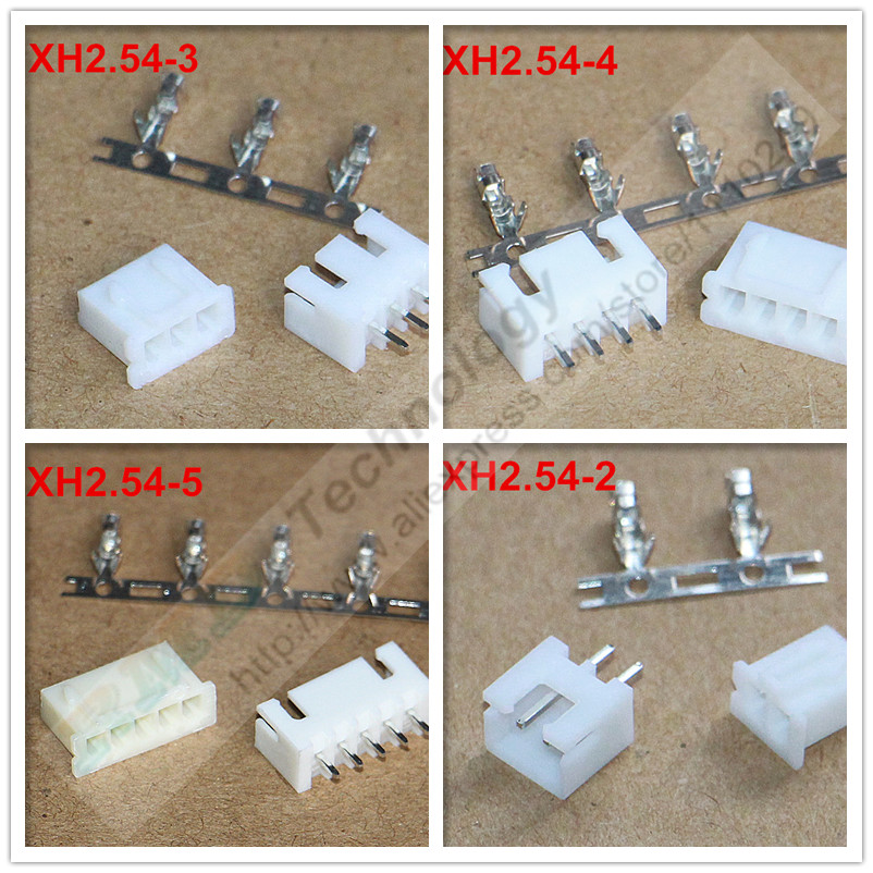 50set/lot XH2.54-2 - 12p XH2.54 2.54 mm connector 50 pcs female housing + 50 pcs male header + 50sets terminal 2.54mm 2 - 12 pin 1000pcs dupont jumper wire cable housing female pin contor terminal 2 54mm new
