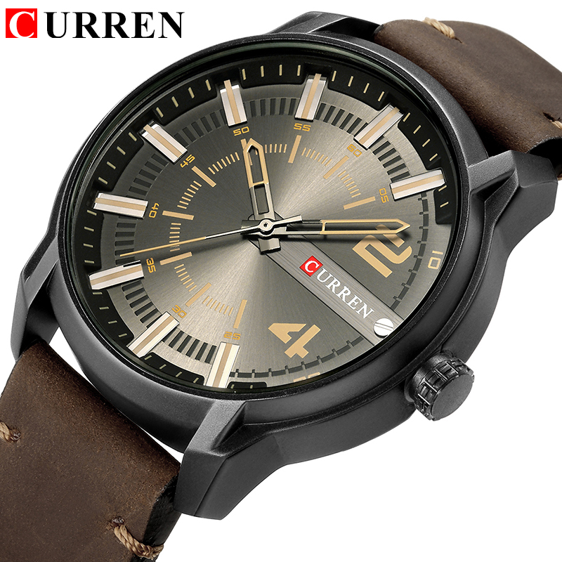 CURREN Top Brand Luxury Fashion Unique Quartz Men Watches Leather Strap Business Wrist Watch Montre Homme  Reloj Hombre