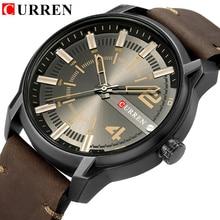 CURREN Top Brand Luxury Fashion Unique Quartz Men Watches Leather Stra