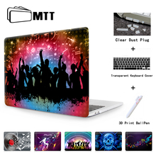 MTT Dynamic Music Cover for Apple Macbook Air 11.6 12 13.3 inch laptop Cases For New Mac book bag shell Pro 13 15 case Touch Bar