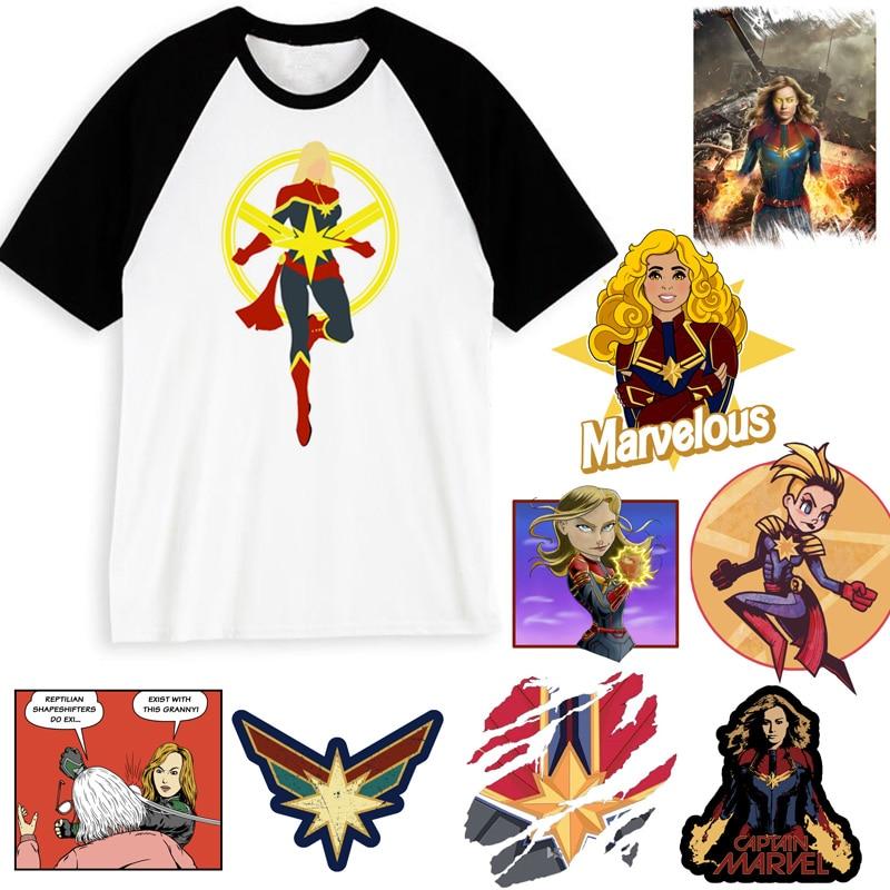 captain marvel 2019   t     shirt   men tshirt boy   t  -  shirt   Tees america camisas Men/women Streetwear male streetwear Hiphop Clothes