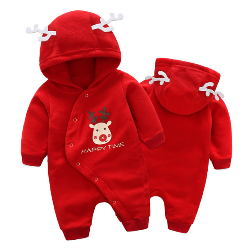 Baby Girls Romper Long Sleeve Hooded Fleece Newborn Baby Clothes Jumpsuits Overall Baby Boy Rompers Gift for Christmas newborn baby girls boy long sleeve organic cotton rompers outfits clothes infant unisex baby jumpsuits overall onesie custome