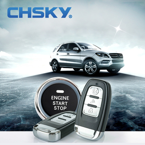 CHSKY Universal for DC 12V Car Smart RFID Immobilizer Car Alarm System Push Engine Start Stop Button Keyless Entry Central Lock