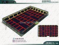 customized amusement trampoline,indoor playground center,multifunctional combination fitness sport trampoline