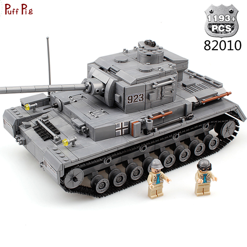 1193pcs Military Army Large Panzer IV F2 The Tiger Tank Model Building Blocks Compatible Legoe Weapon City Bricks Toys For Child mylb large panzer iv tank 1193pcs building blocks military army constructor set educational toys for children dropshipping