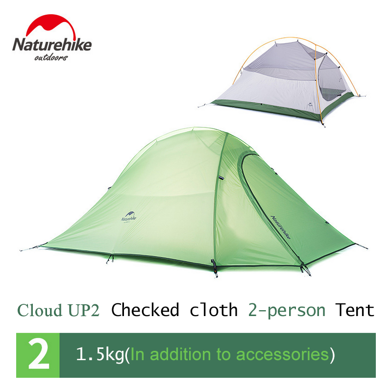 NatureHike 2 Person 4 Season Tent Waterproof 210T Checked Cloth Double layer Outdoor C&ing Tent Lightweight NH-in Tents from Sports u0026 Entertainment on ...  sc 1 st  AliExpress.com & NatureHike 2 Person 4 Season Tent Waterproof 210T Checked Cloth ...