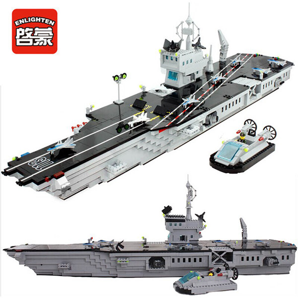 Enlighten 113 Combat Zones Modern Military Aircraft Carrier Parking apron SWAT Model Bricks Building Block Toys For Gift