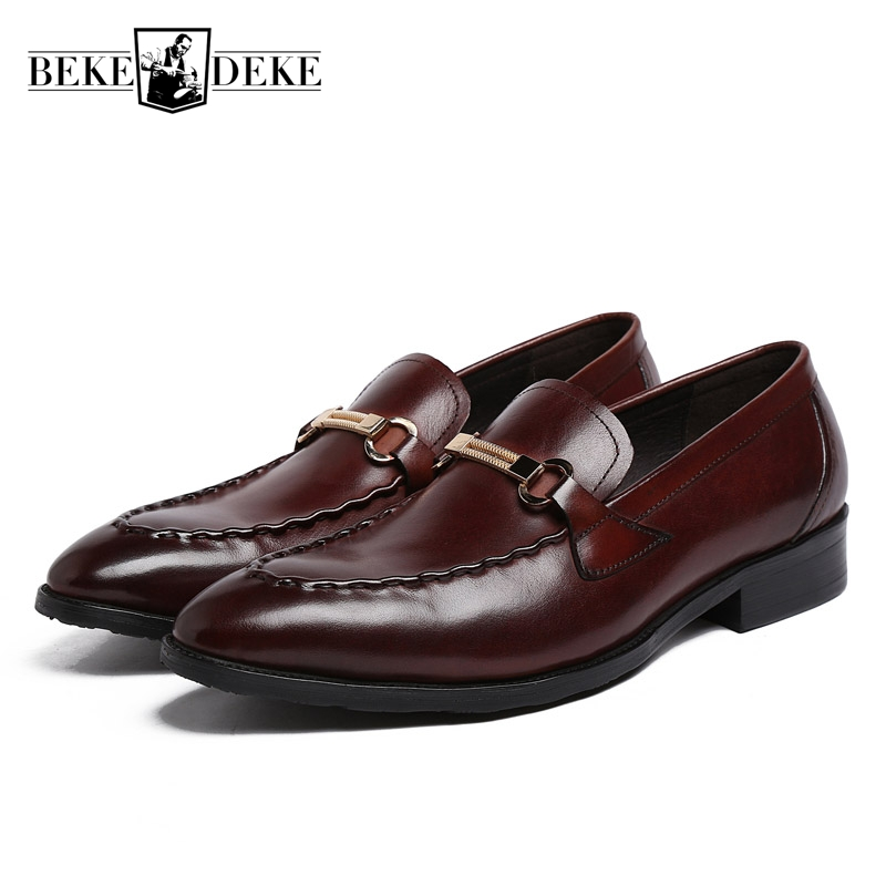 England Style Brand Fashion Mens Formal Shoes Genuine Leather Breathable Brown Black Business Office Men Shoes Plus Size 38-44 england style slim fit suit black size l