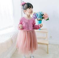 Baby Girls Fashion Boutique Sequined Mesh Dresses, Princess Kids Sweet Party Clothing 6 pcs/lot,Wholesale Free Shipping