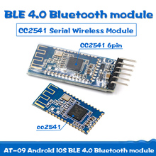 AT-09 Android IOS BLE 4.0 Bluetooth module for arduino CC2540 CC2541 Serial Wireless Module compatible HM-10 ti cc2540 cc2541 ble usb dongle protocol analysis capture bluetooth 4 with shell