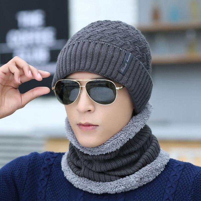 SUOGRY Winter Knitted Hat   Beanie   Scarf Men   Skullies     Beanies   Winter Hats for Women Men Gorras Bonnet Mask Brand Hats 2018