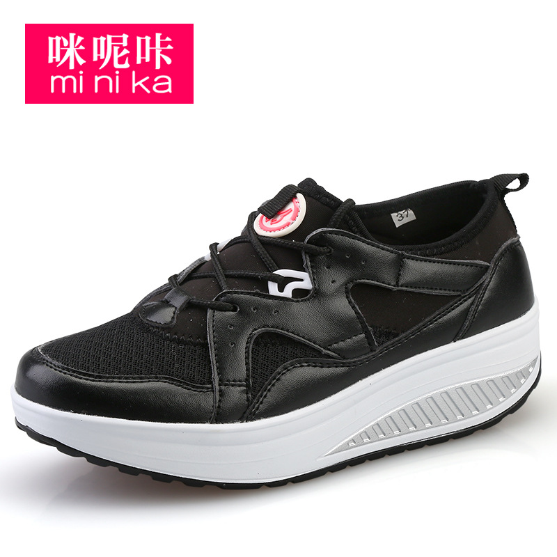 MINIKA Brand Platform Sneakers Women Thick Sole Shoes Female Harajuku Shoes Chaussure Femme Trainers Women Swing Gg Shoes China minika soft