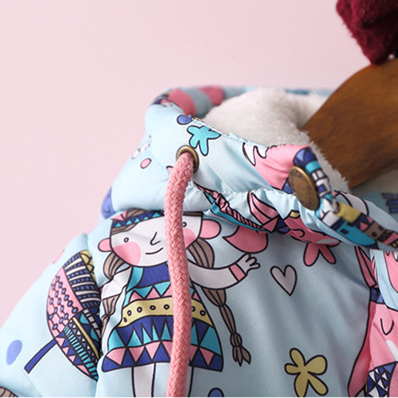 ef40dc45a1aef baby girl winter jacket Girls Graffiti Parkas Hooded Jackets Toddler Girl  Warm Outerwear Coats Cartoon Fox Owl Children s Jacket-in Down   Parkas  from ...