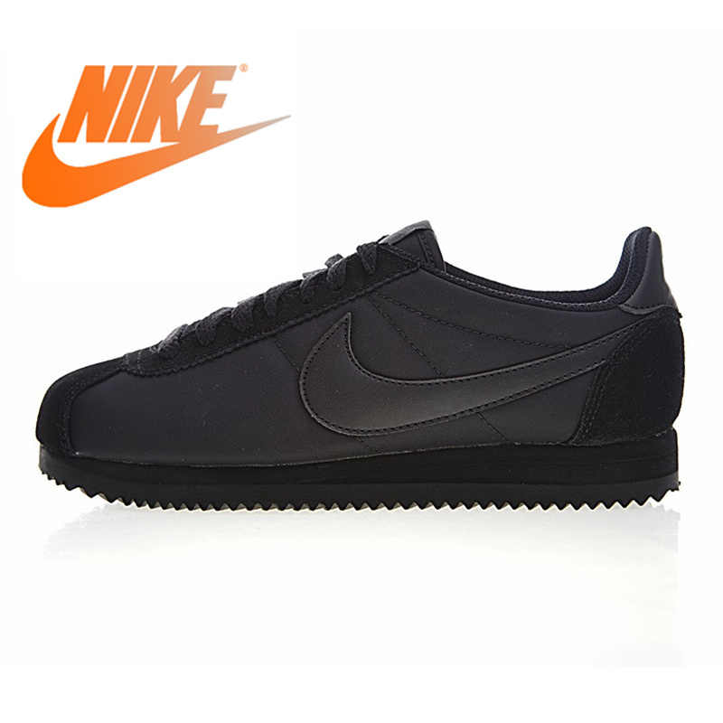 99f7fc972075 Nike CLASSIC CORTEZ NYLON Men s and Women s Running Shoes Outdoor Sneakers  Shoes Black Wear-resistant