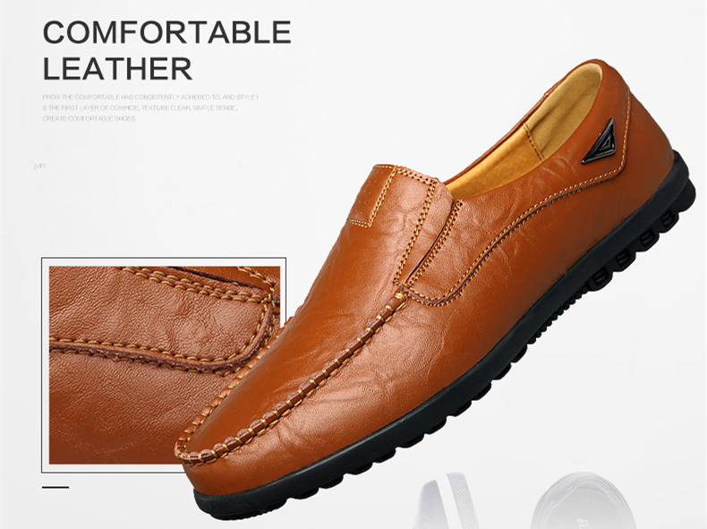 HTB1pbFzatfvK1RjSszhq6AcGFXag Genuine Leather Men Casual Shoes Luxury Brand Mens Loafers Moccasins Breathable Slip on Black Driving Shoes Plus Size 37-47