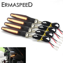 4PCS Universal LED Motorcycle Turn Signal 12v IP68 Waterproof Sequential Amber Flasher Indicator Blinker Rear Lights Accessories