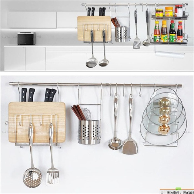 Love Home 10 pcs Hooks Hanging Hanger stainless steel Storage Holder Hook Home Kitchen Bar Tool Organizer free shipping