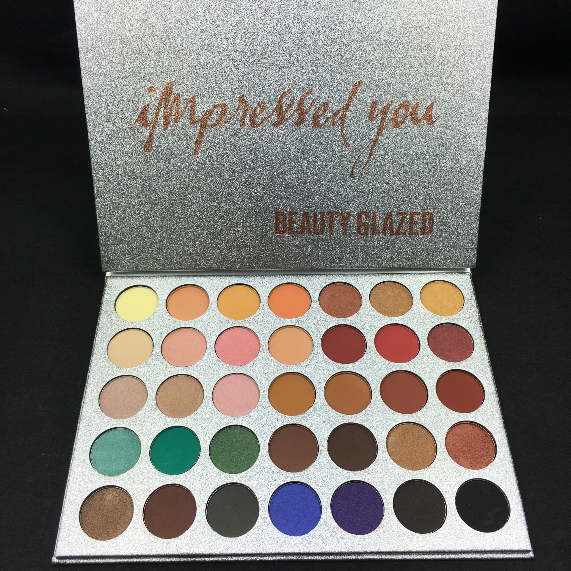 2018 Beauty Glazed 35 Colors Shimmer Matte Pigment Glitters Makeup Sunset Eye Shadow Palette Eyeshadow Palette Cosmestics beauty glazed brand 35 colors face makeup eye shadow palette eyeshadow pallete shades shimmer matte eye shadow beauty maquiagem