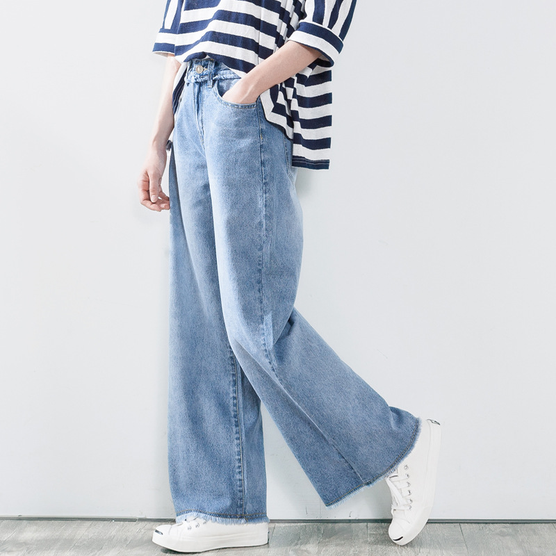 Spiksplinternieuw Women Casual Light color Wide Leg Denim Pants Jeans Ladies Loose HY-01