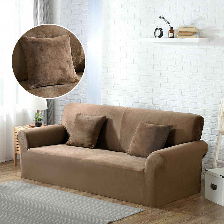 Lellen Add 2 pillow case plush fabric sofa cover thick seat couch cover sofa Towel covering Elastic Stretch Slipcovers 1/2/3/4Lellen Add 2 pillow case plush fabric sofa cover thick seat couch cover sofa Towel covering Elastic Stretch Slipcovers 1/2/3/4