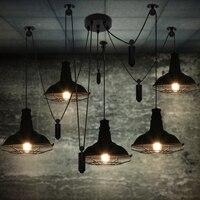 Yemek odası restoran bar aydınlatma edison vintage lambası depo kolye aydınlatma mutfak modern restoran aydınlatma