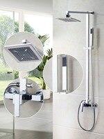 Ouboni Shower Set Torneira Waterfall 8 Plastic Shower Head Bathroom Rainfall 52004 Bath Tub Chrome Sink