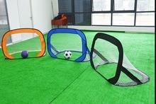 цена Foldable children's soccer goal portable beach soccer goal NET move small goal frame outdoor children's goal онлайн в 2017 году