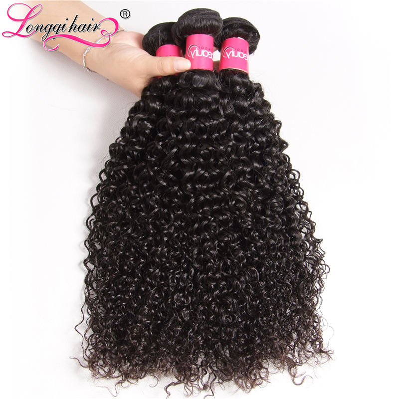 Longqi Hair Cambodian Curly Hair 3 Bundle Deals Natural Color Remy Hair Extensions 8 26 Inches 100g/pc Free Shipping-in 3/4 Bundles from Hair Extensions & Wigs    2