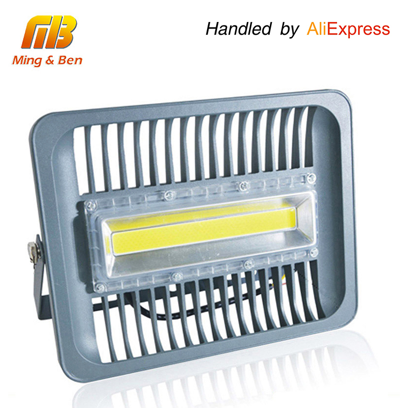 [MingBen] LED Flood Light IP65 Vattenprov 30W 50W 100W 220V 230V 110V Flood Light Spotlight Utomhus Vägg Lamp Garden Projector