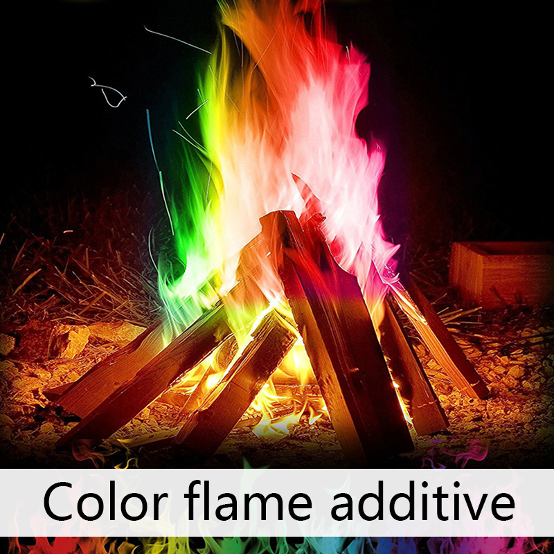 60g Mystical Fire Magic Tricks Coloured Flames Bonfire Sachets Fireplace Pit Patio Color Toy Professional Magicians Pyrotechnics demigods and magicians